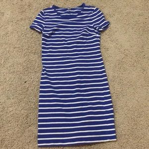 Sheathed Striped Dress